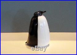 Iittala OIVA TOIKKA Art Glass Bird - Tubbergen Penguin - Rare, LIMITED