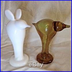 Iittala OIVA TOIKKA Art Glass Birds Ursula and Valdemar Finland