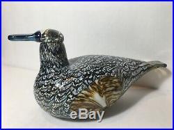 Iittala Oiva Toikka 8.5 Art Glass Duck Bird Blue Beak Nuutajärvi Finland Large