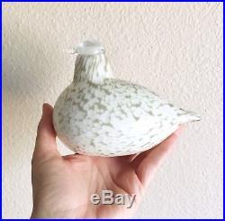 Iittala Oiva Toikka Blown Glass Bird Figurine Gray Willow Grouse Sculpture AS IS