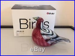 Iittala Oiva Toikka Common Redpoll Glass Bird Rare