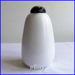 Iittala Oiva Toikka Glass Bird Penguin Ping Mint Signed with Sticker Rare Signed