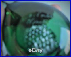 Iittala Oiva Toikka Glass Bird, Snow Bunting Pulmu, Emerald Green, Nuutajarvi