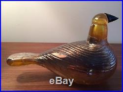 Iittala Oiva Toikka Golden Cuckoo Glass Bird
