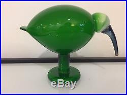 Iittala Oiva Toikka Green Ibis Glass Bird
