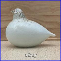 Iittala Oiva Toikka Hand Blown Art Glass Bird Willow Grouse 1981 Finland