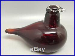 Iittala Oiva Toikka Hand Blown Red Art Glass Bird Tern