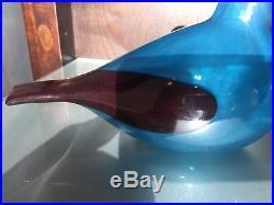 Iittala Oiva Toikka Indigo Bunting Glass Bird