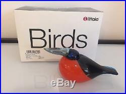 Iittala Oiva Toikka Kingfisher Glass Bird