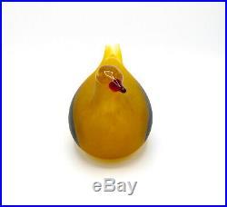 Iittala Oiva Toikka Kultakyyhky Golden Dove Annual Bird 2001 Matte Rare Limited