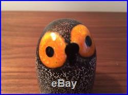 Iittala Oiva Toikka Little Barn Owl Glass Bird