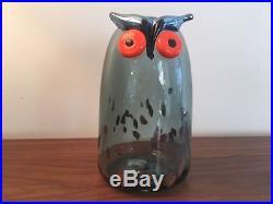 Iittala Oiva Toikka Long Eared Owl Glass Bird