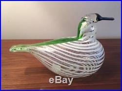 Iittala Oiva Toikka Minneapolis Bird Glass Bird RARE