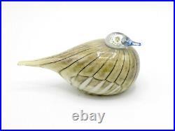 Iittala Oiva Toikka Mysterious Sparrow (Varpunen) SMS Rare Limited Edition