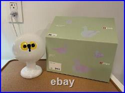 Iittala Oiva Toikka Northern Owl with Foot Glass Bird Limited Edition