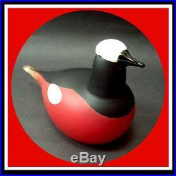 Iittala Oiva Toikka Nuutajarvi Art Glass Bird Bergrotschwanz Mountain Redstart