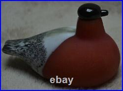 Iittala Oiva Toikka Nuutajarvi Art Glass Red Bullfinch 1994
