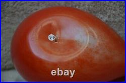 Iittala Oiva Toikka Nuutajarvi Art Glass Red Cardinal 2004