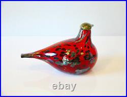 Iittala Oiva Toikka Original Vintage Ruby Bird (Rubiinilintu)