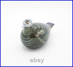 Iittala Oiva Toikka Pikku-Alli (Northern Duck) Vintage Finland Art Glass Bird