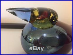 Iittala Oiva Toikka Queenfisher Glass Bird RARE