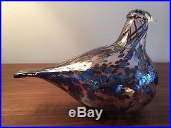 Iittala Oiva Toikka Reed Warbler Glass Bird