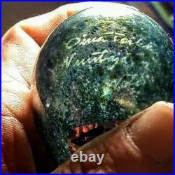 Iittala Oiva Toikka Signed Hand Blown Glass Speckled Bird 1793