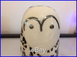 Iittala Oiva Toikka Snowy Owl Glass Bird