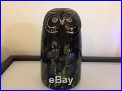 Iittala Oiva Toikka Sooty Owl Glass Bird