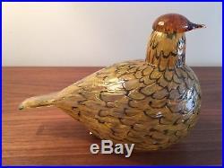 Iittala Oiva Toikka Summer Grouse Glass Bird