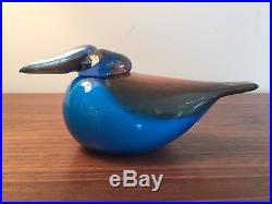 Iittala Oiva Toikka Turquoise Kingfisher Glass Bird