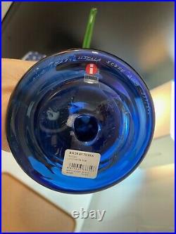 Iittala Oiva Toikka Ultramarine Kiikkuri Glass Bird Limited Edition
