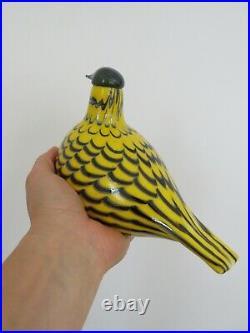 Iittala Oiva Toikka Yellow Grouse Glass Bird Nuutajarvi