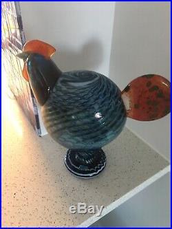 Iittala Oiva Toikka glass bird big KAIKU Blue Bird By Iittala Finland Nuutajarvi