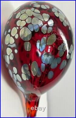 Iittala Ruby Red Bird Signed Oiva Toikka Nuutajärvi Finland Handblown Glass Art