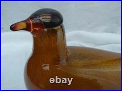 Iittala Scandinavian Glass Bird Golden Dove 2001 Excellent Toikka