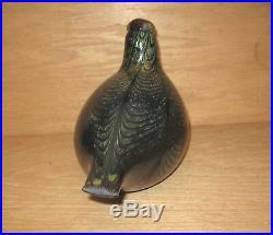 Iittala Signed Toikka Nuutajärvi Art Glass Finland Bird Figurine