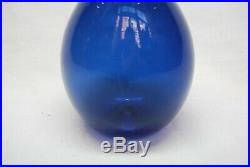 Iittala Timo Sarpaneva Vase/bottle Bird Bottle In Blue. Signed