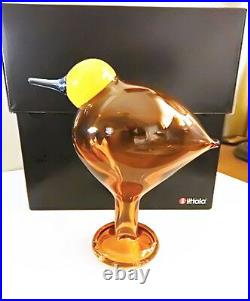 Iittala Toikka Art Glass DYYNIA Bird, Finland, Lim. Numbered Edition, New in Box