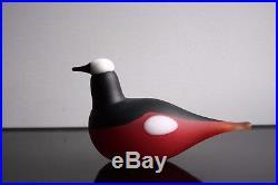 Iittala Toikka Bird Mountain Redstart Signed Original Box & Sticker