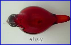 Iittala Toikka Glass Bird Red Tirri /Little Tern Nuutajarvi NEW in Box