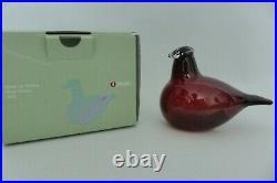 Iittala Toikka Little Tern Glass Bird Cranberry Red