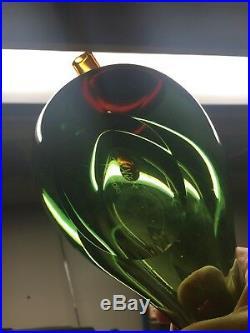 Iittala Vigna Colori Glass Bird (lime/brown)