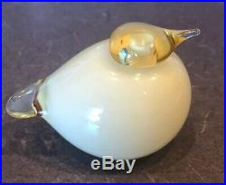 Iittala Yellow Puffball/Glass Bird One of a kind