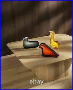 Iittala × minä perhonen Glass Bird Gray Desktop Art Work Figurine Gift in Box