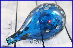 LIMITED 500PCS RARE Iittala Oiva Toikka bird, blue SAFIIRI, NIB