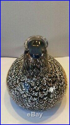 Large IIttala Oiva Toikka Art Glass Bird Nuutajärvi Finland Signed Sticker Duck