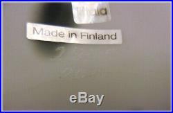 Littala Finland Art Glass Whooper Swan Bird Signed Oiva Toikkaoriginal Box
