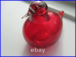 Littala Toikka glass bird. Ruby red. Little Tern Model