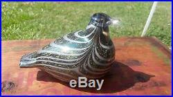 MINT! STUNNING! IITTALA Oiva Toikka Art Glass Bird Finland